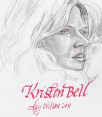 Kristen Bell, graphite
