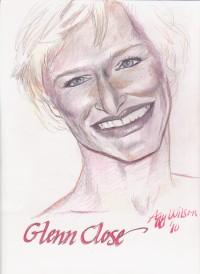 Glenn Close, colored pencil