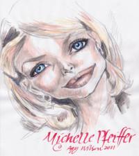 Michelle Pfeiffer, Colored pencils