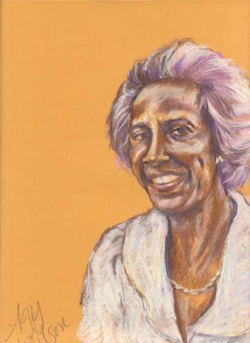 Michelle Green's mum Winnie Pearl, pastel on Canson Mi Tientes, Agy Wilson